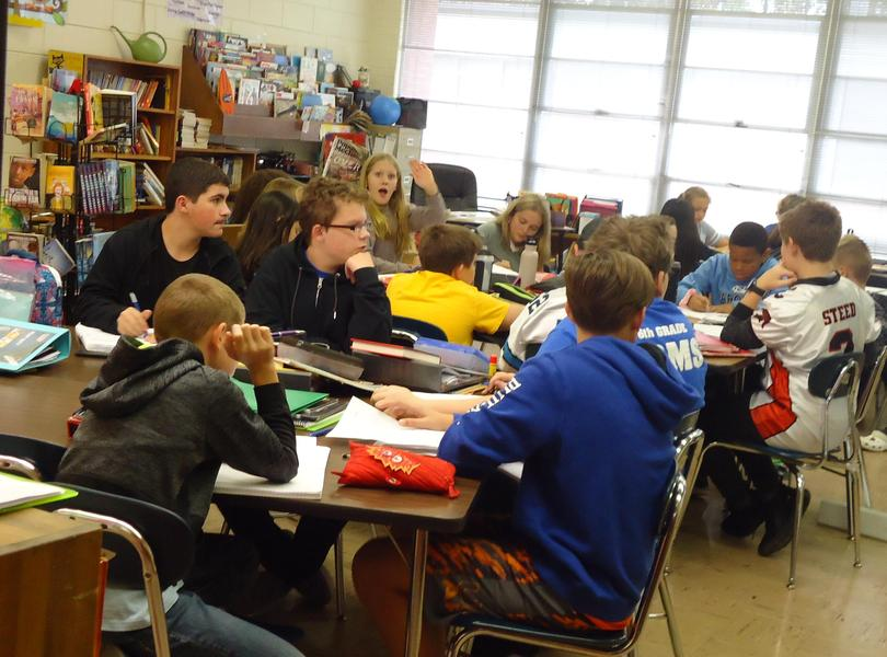 students in Mrs. Hedrick's class