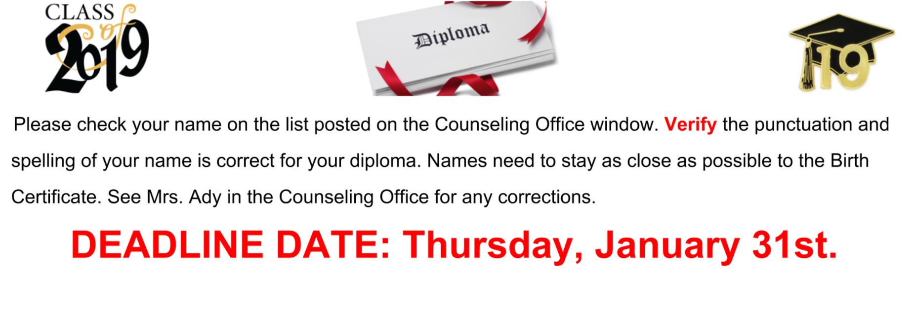 Verify Diploma information