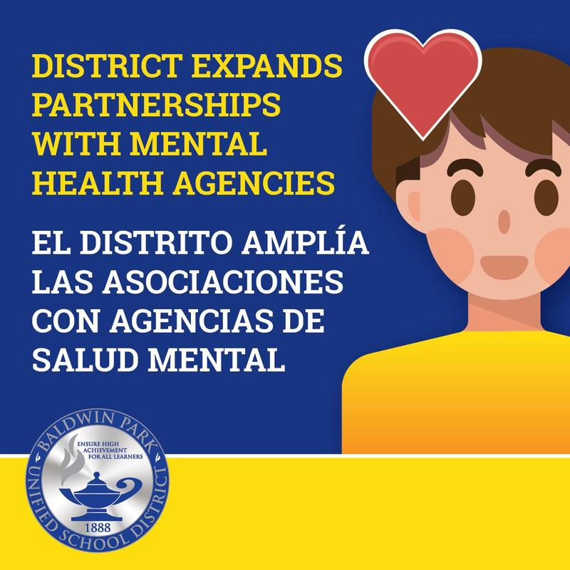 Baldwin Park Unified Expands Partnerships with Mental Health Agencies