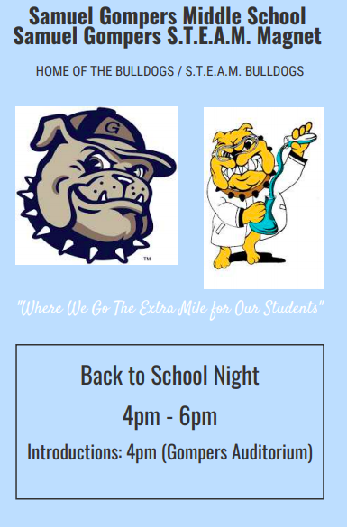 poster image of back to school night