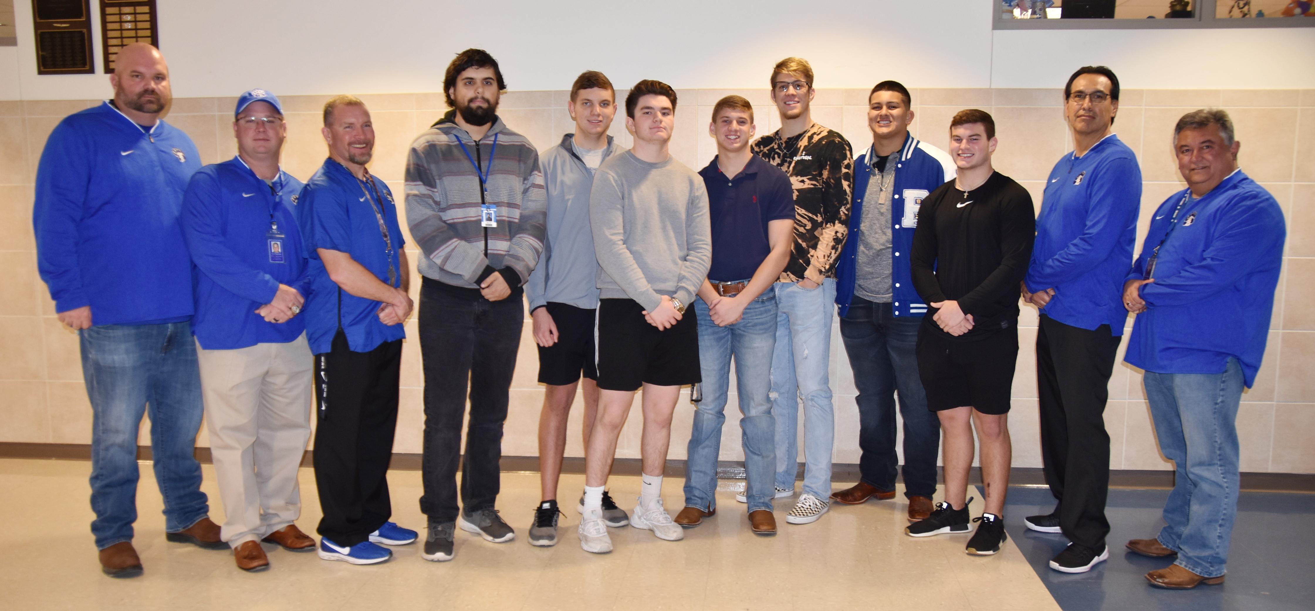 Brewer High School football players named Academic All State this year are: Adam Duncan, ELITE; Carson Ingram, 1st Team; Bryce Ramsey, 2nd Team; and Weston Dill, Barrett Hammonds, Jordan Matous and Christian Ramirez, Honorable Mention.