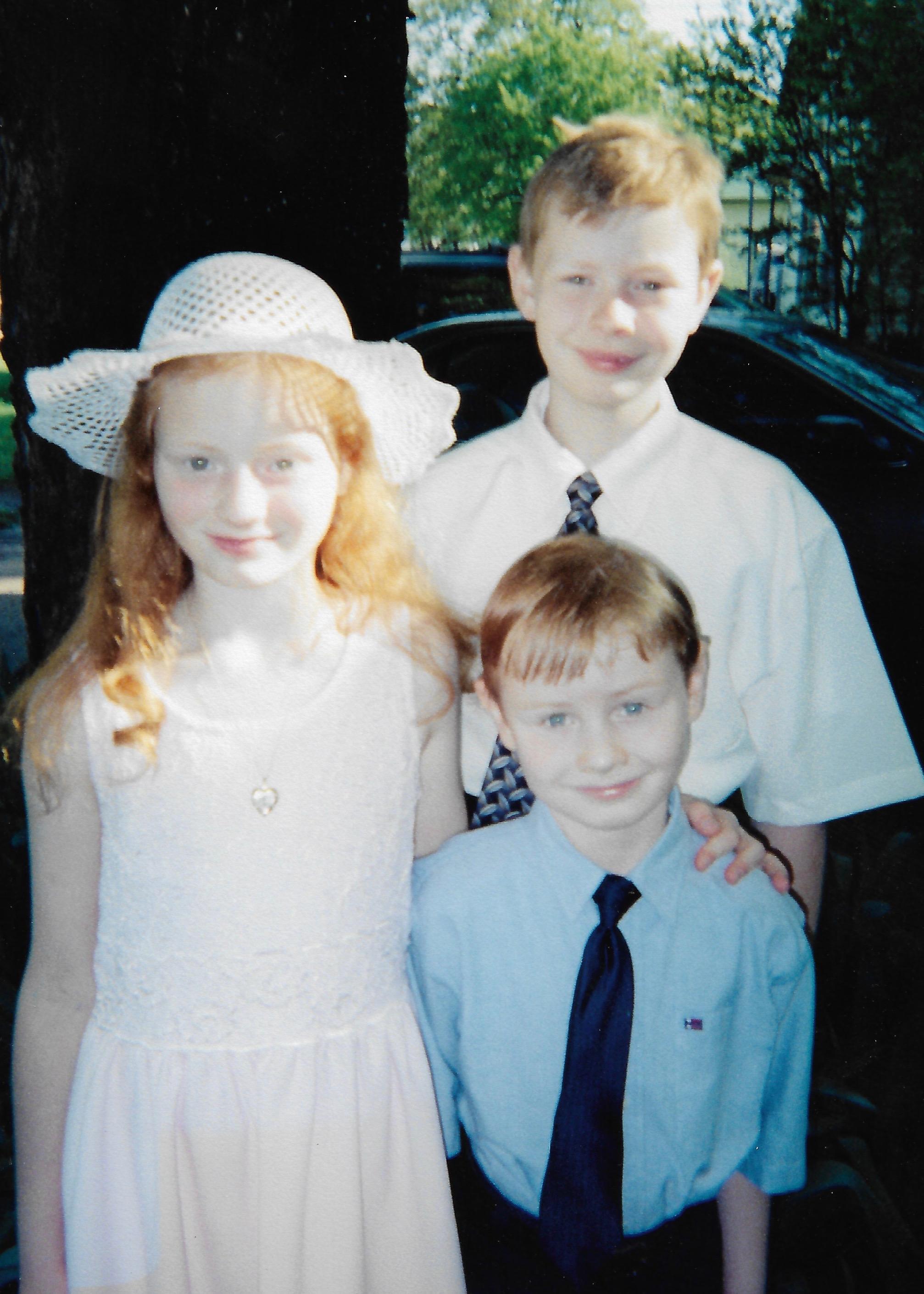 Tyler, Sarah, & Eric, Easter 1999
