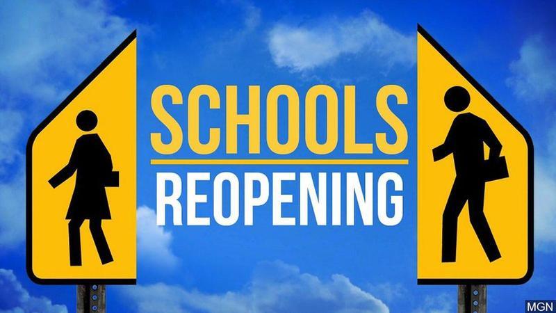 schools reopening banner