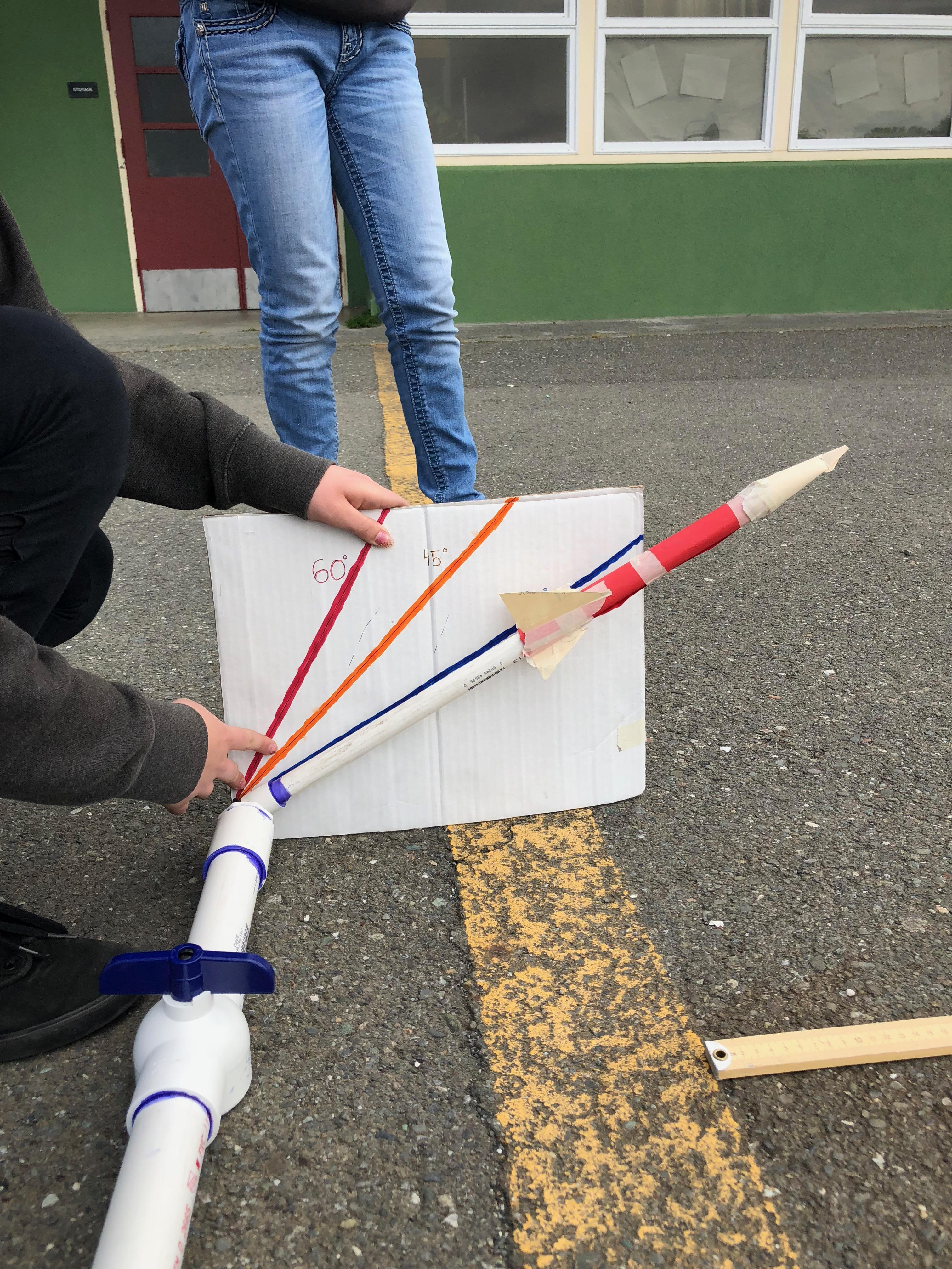 Launching paper rockets