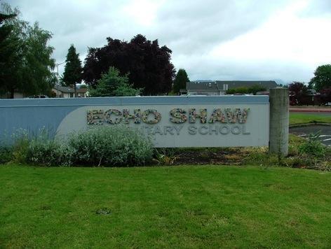 Front of Echo Shaw Elementary School