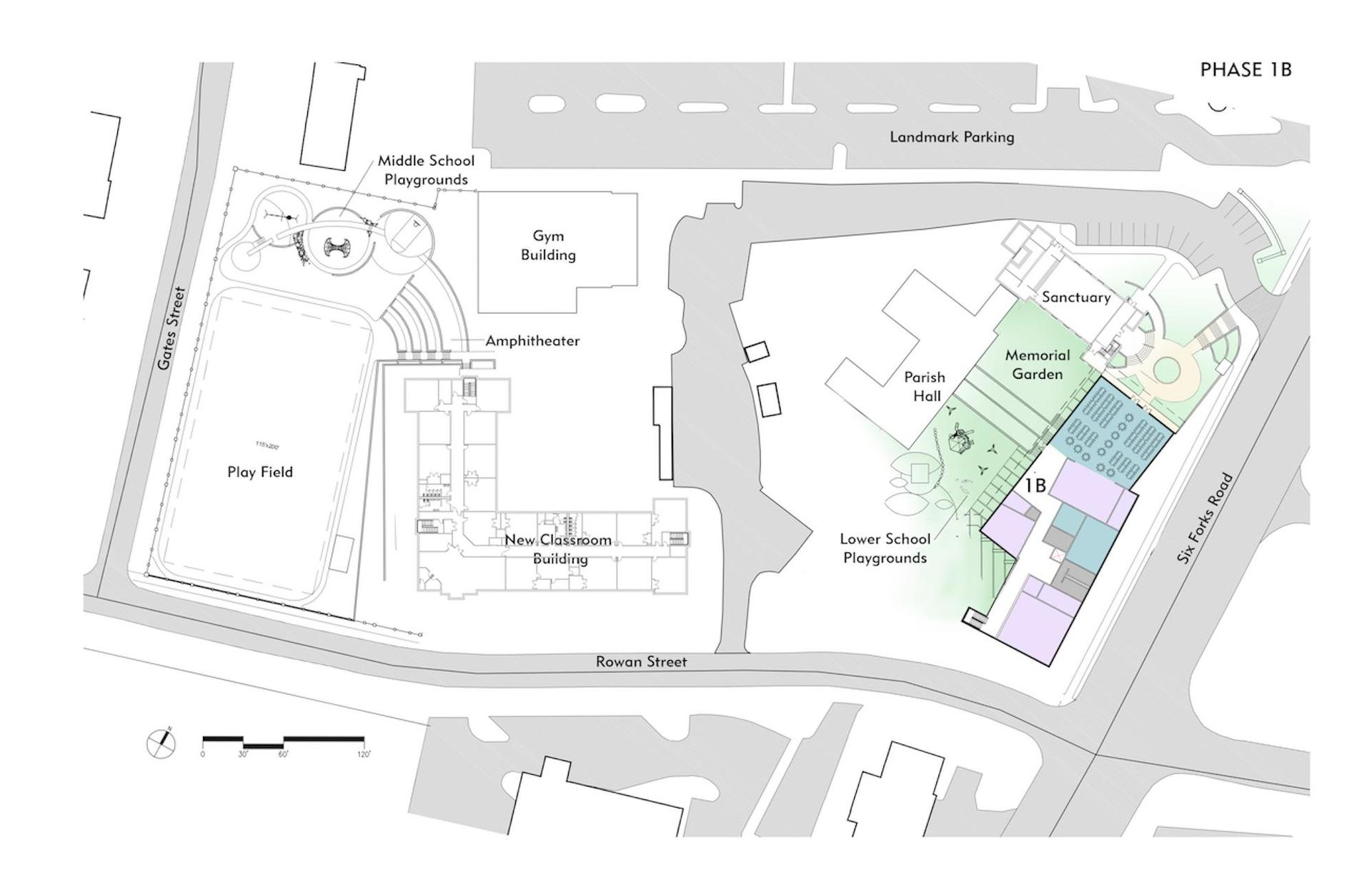 Phase 1B site plan