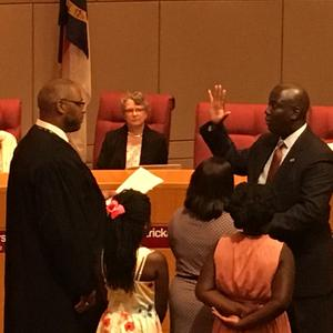 Swearing-in ceremony for Superintendent Earnest Winston