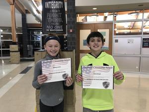 6th Grade Citizenship Winners