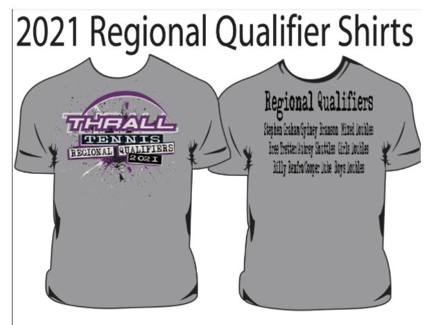 Tennis Regional Qualifier T-Shirt Orders DUE Monday Thumbnail Image