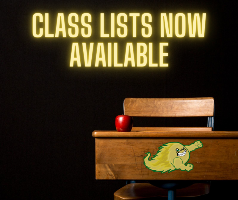 Class Lists Now Available