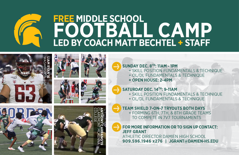 Announcing Damien's December Youth Sports Camps! REGISTRATION NOW OPEN Featured Photo