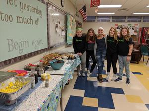 Be nice students who put on the birthday staff breakfast