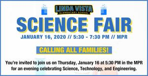 Linda Vista Science Fair - Families Welcome!