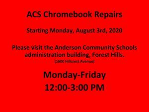 Chromebook repairs flyer