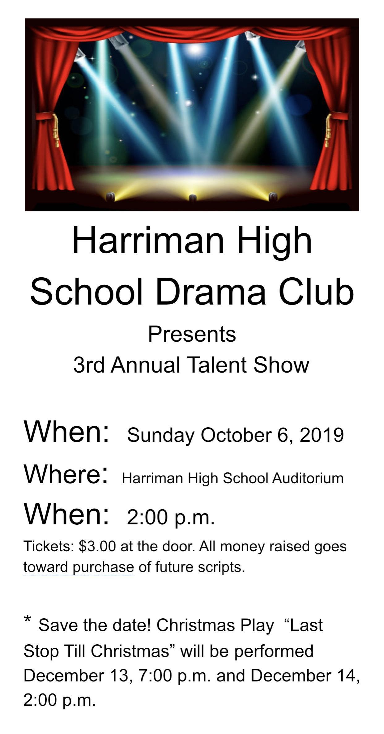 HHS Drama Club Presents: 3rd Annual Talent Show