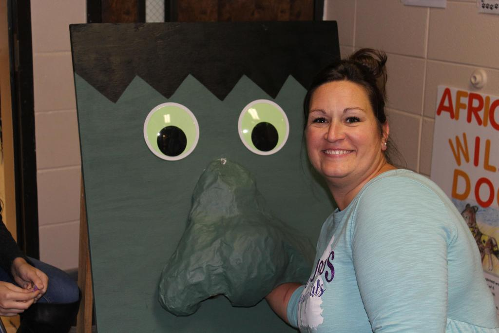 teacher with monster nose