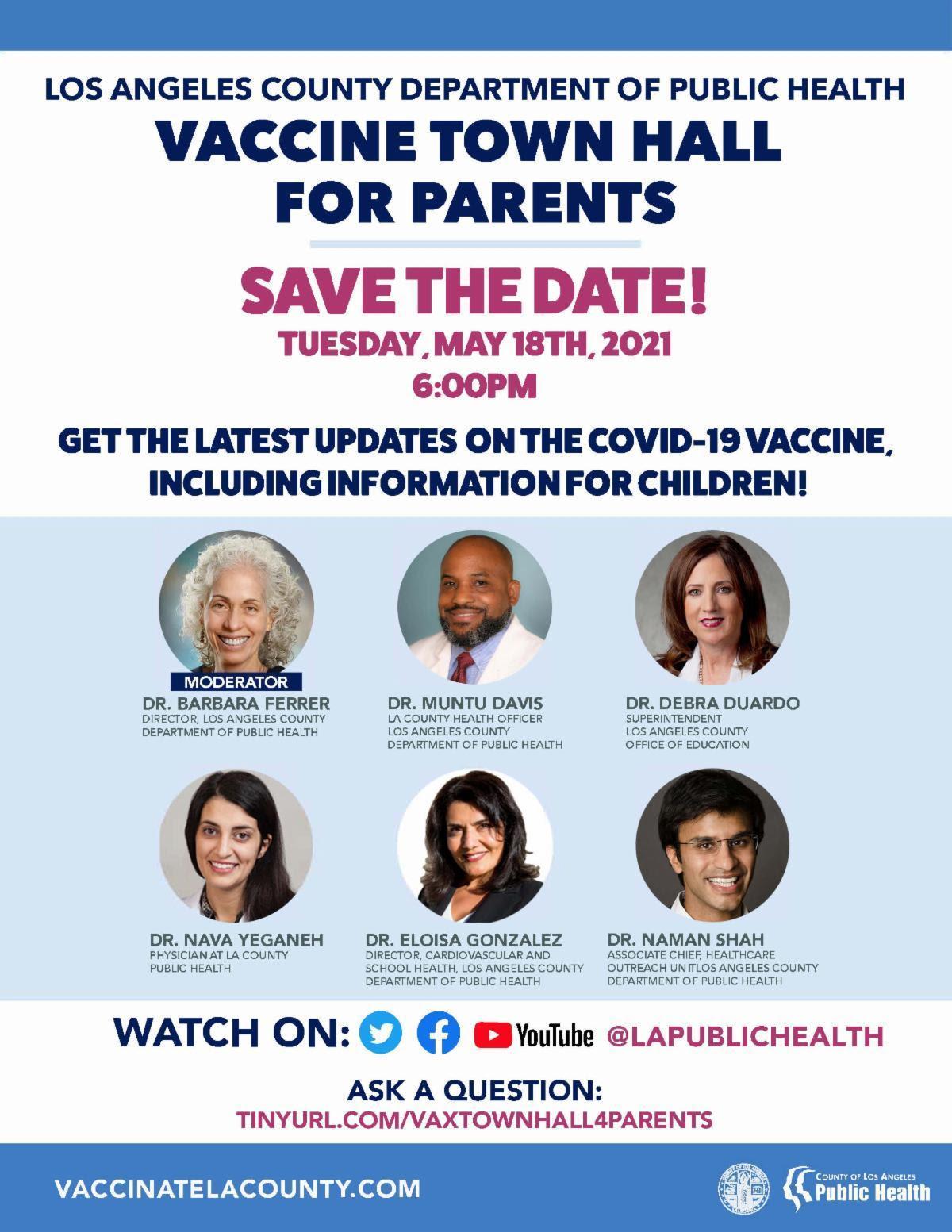 LACDPH Vaccine Town Hall Flyer ENGLISH