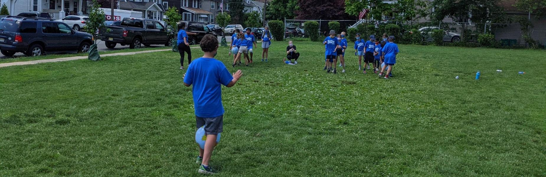 Photo of students having fun during Field Day.