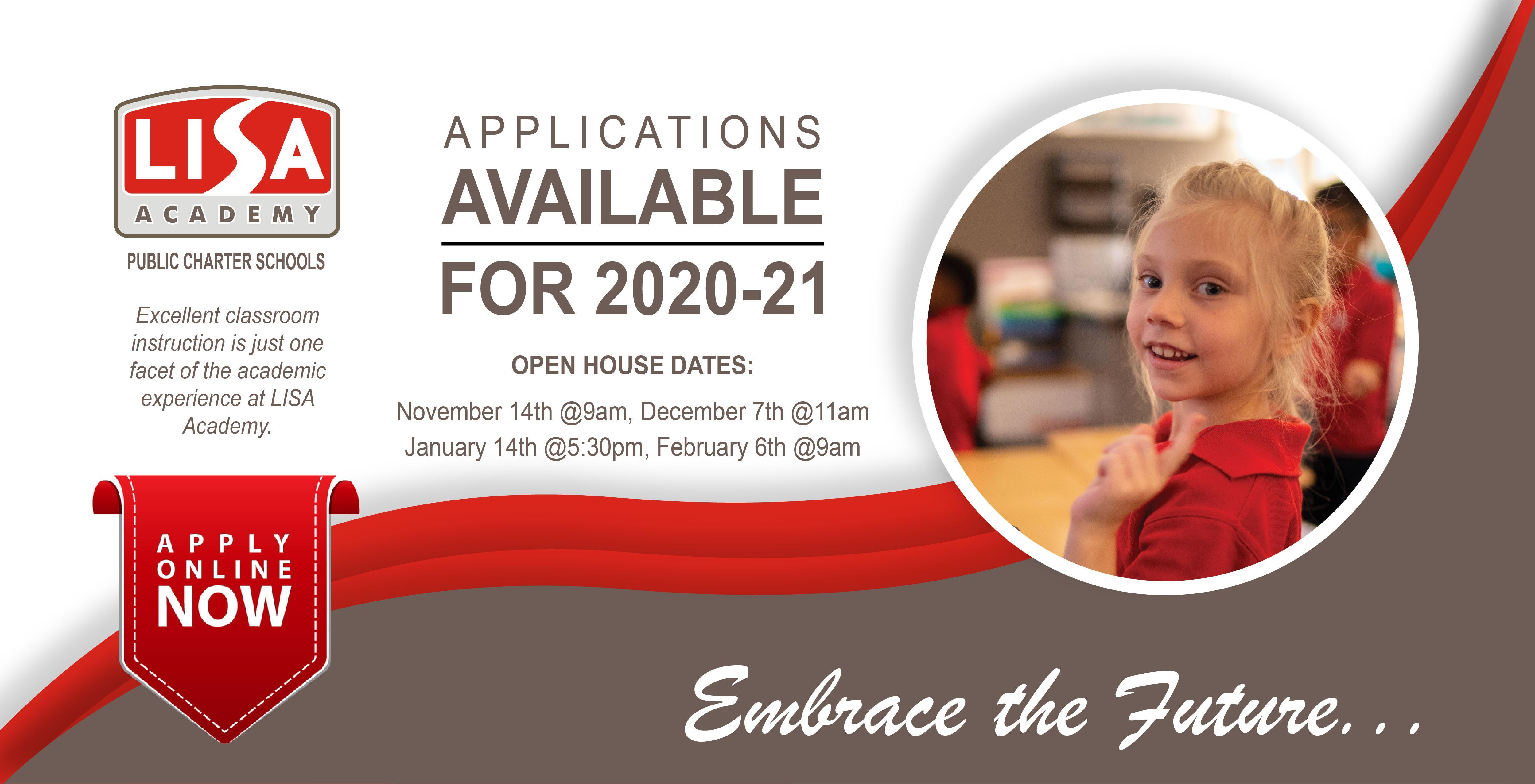 Apply Now for the 2020-2021 School Year Image