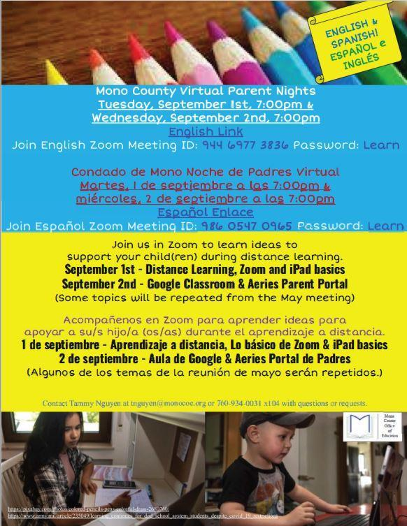 Please join us for parent training