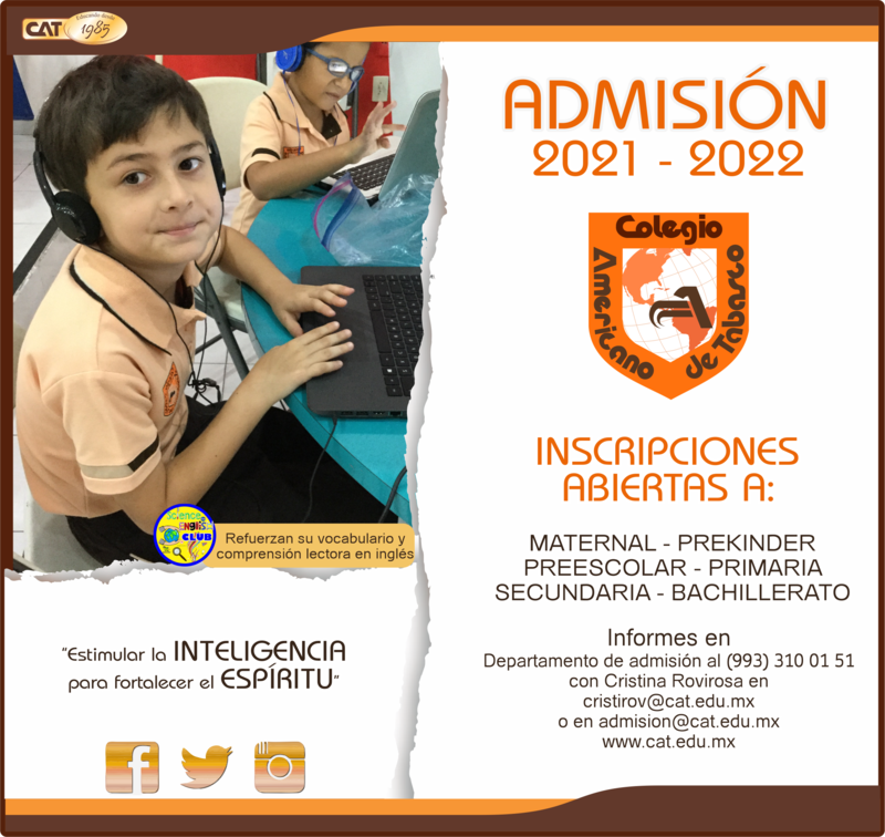 PRIMARIA: ADMISIÓN 2021-2022 Featured Photo