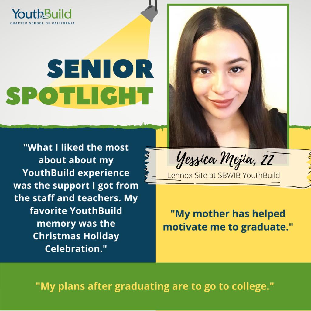 Senior Spotlight for graduate Wendy Sanchez