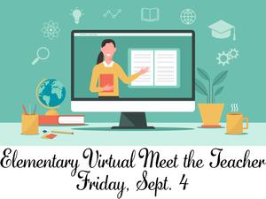Virtual Meet the teacher clipart