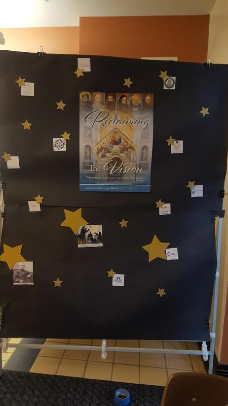 display for OLSH mission & heritage week