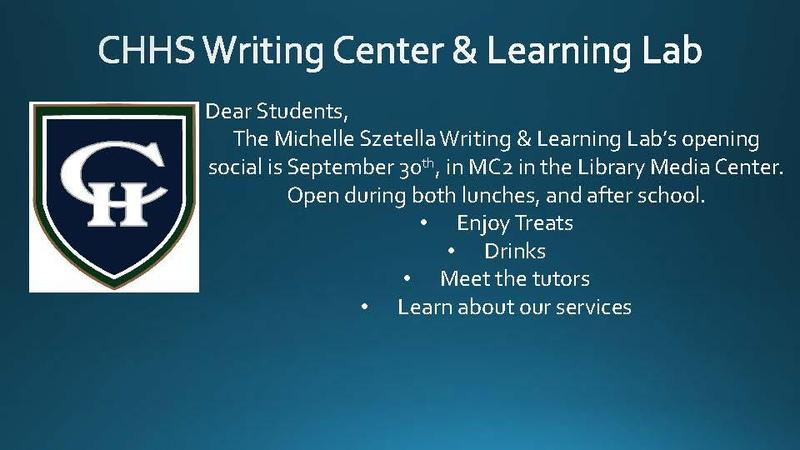 Writing Center and Learning Lab