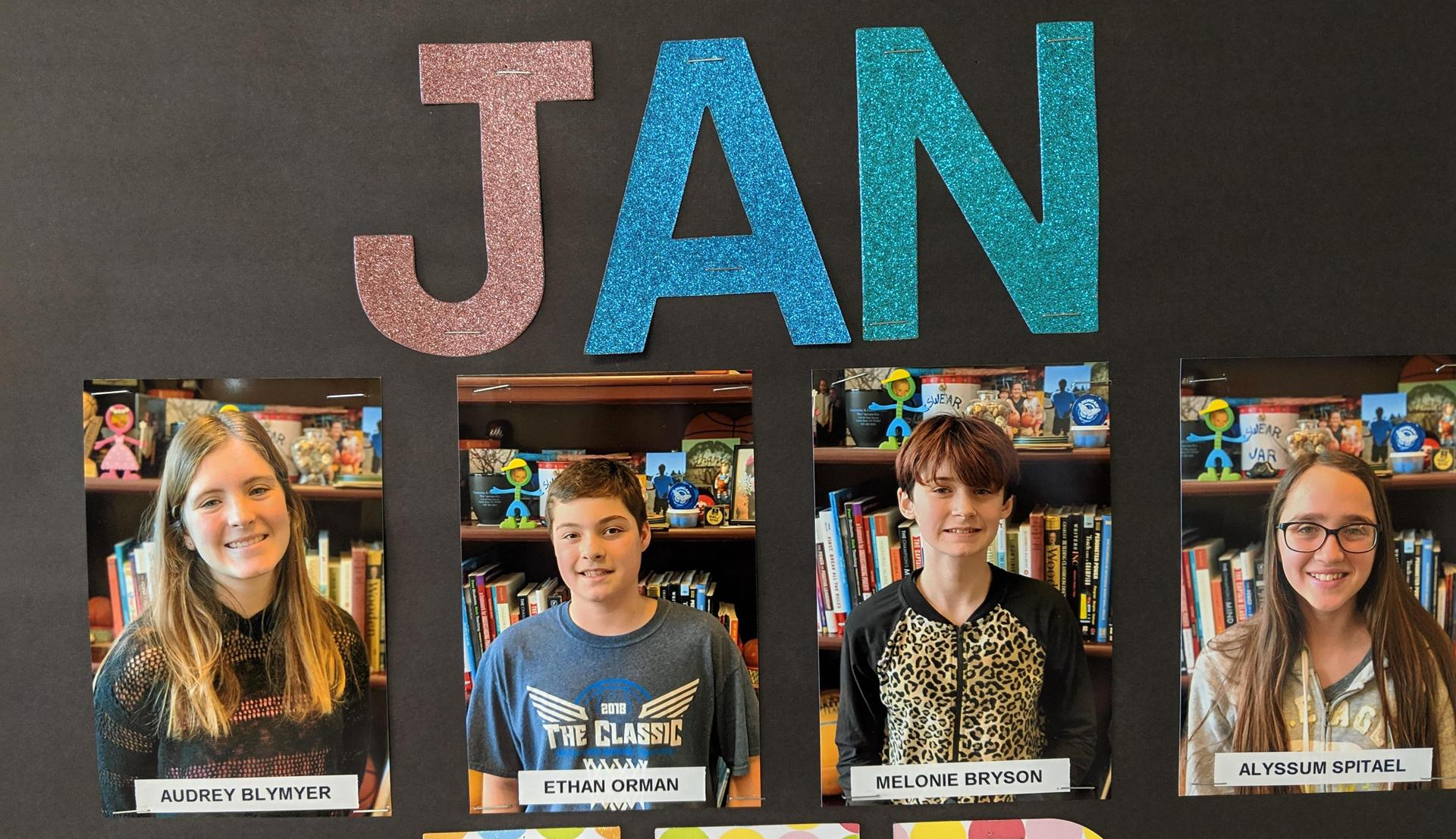 Jan students of the month