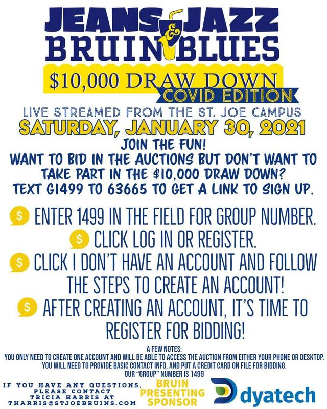 flyer for Jeans Jazz and Bruin Blues Draw Down