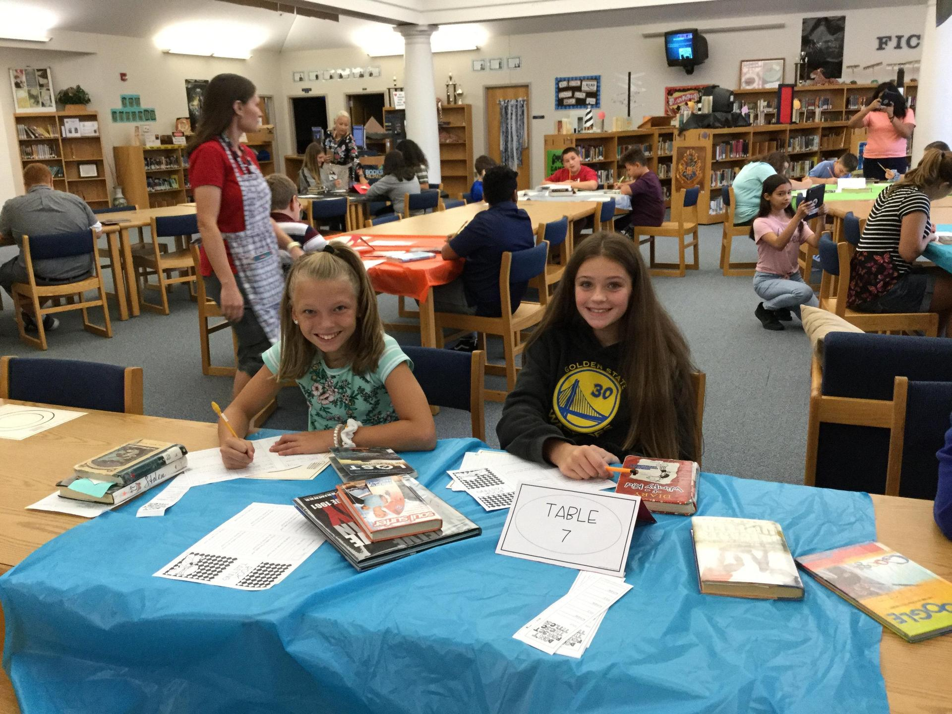 Book Tasting with 6th Grade