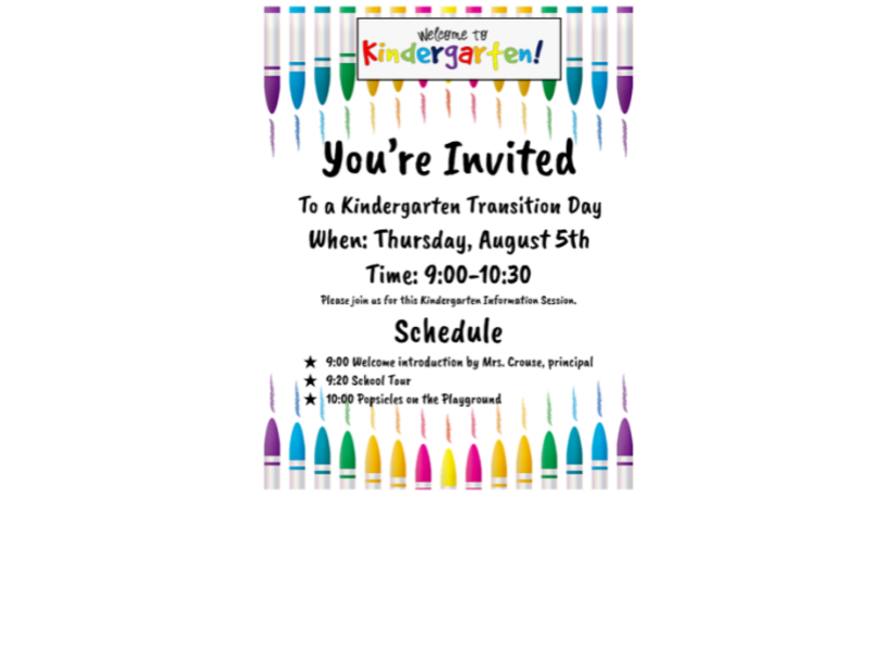 Kindergarten Transition Meet