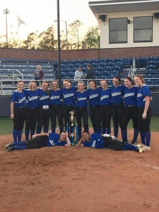 Grand Ridge Indians 2018-2019 District Softball Champions