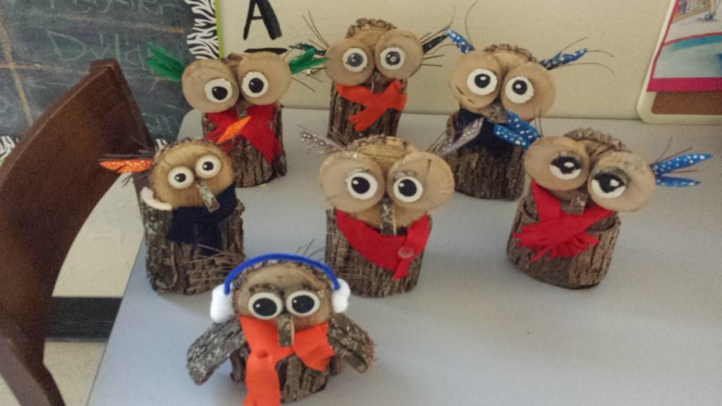 winter owl craft Mrs. White