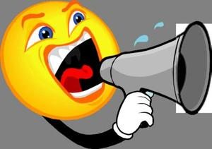 megaphone screaming announcements
