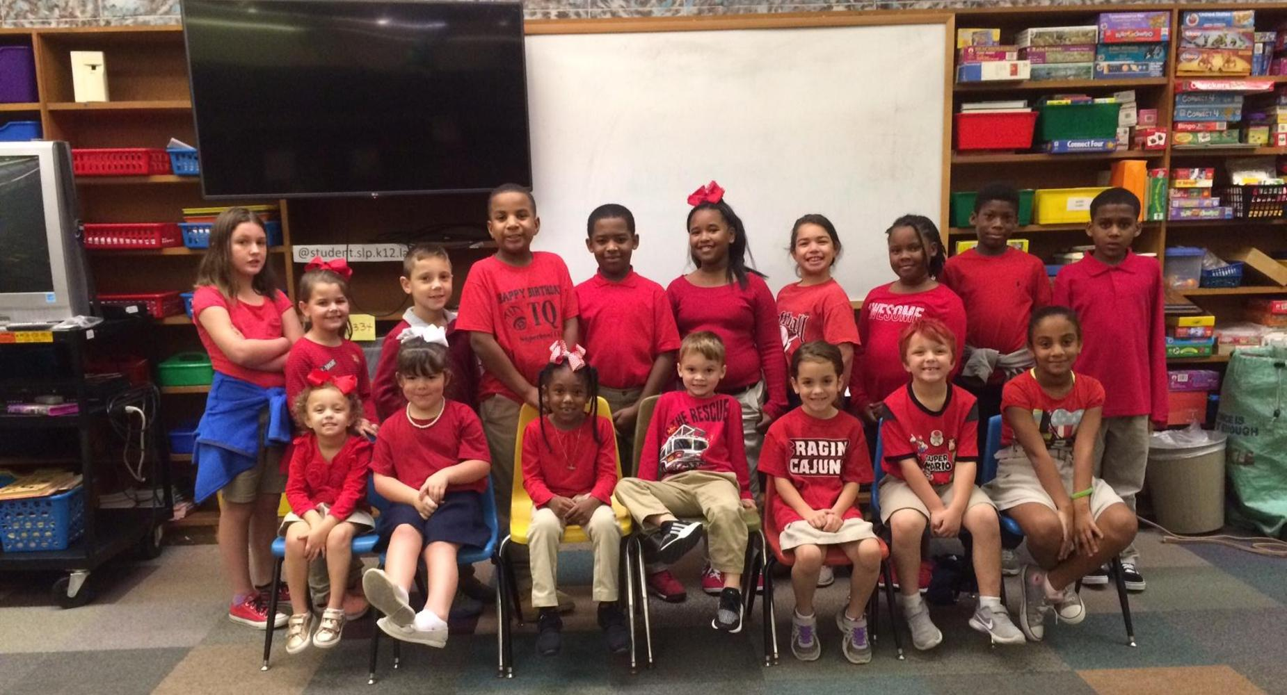 EAST ELEMENTARY CELEBRATES DRUG AWARENESS WEEK WITH RED DAY
