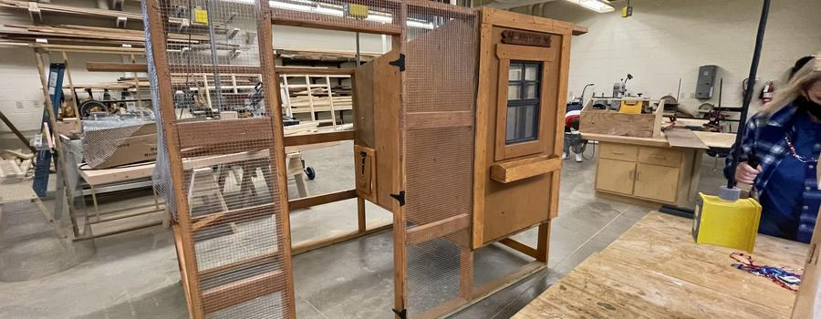Mr. Royer's Adaptive Technology class built a chicken coop from the ground up!