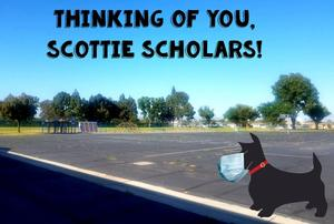 Scottie Dog with Mask