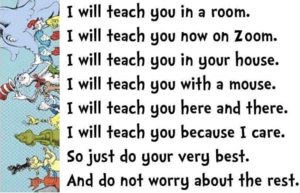 Distance Learning by Dr. Seuss