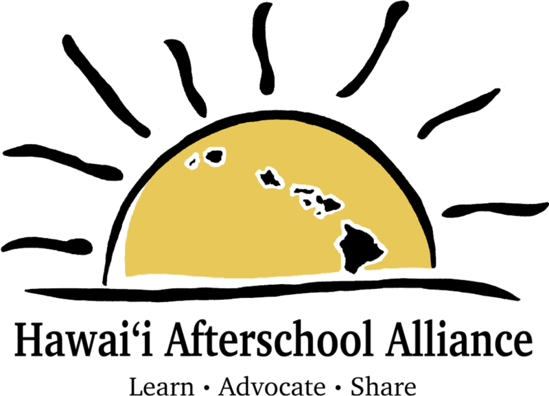 Hawaii Afterschool Alliance Logo of a Sun half lowered into the ocean