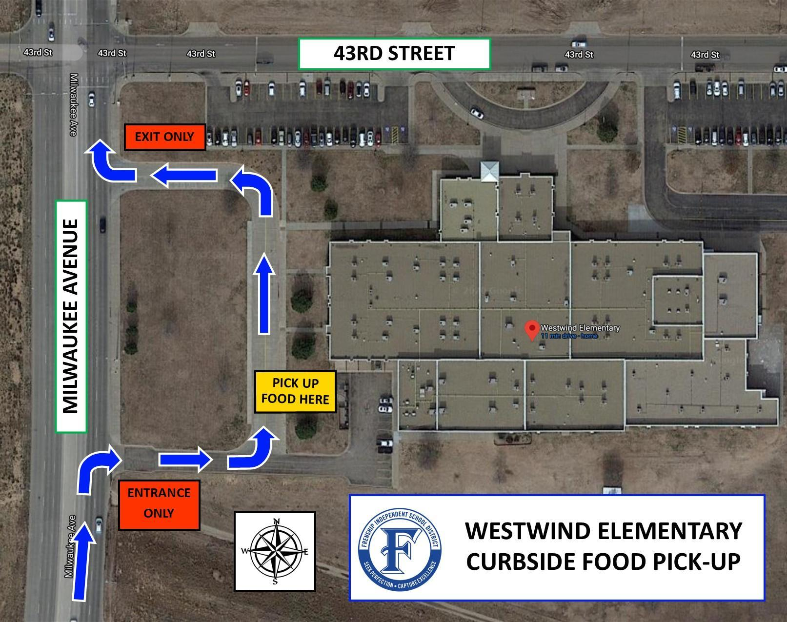 Westwind Elementary map