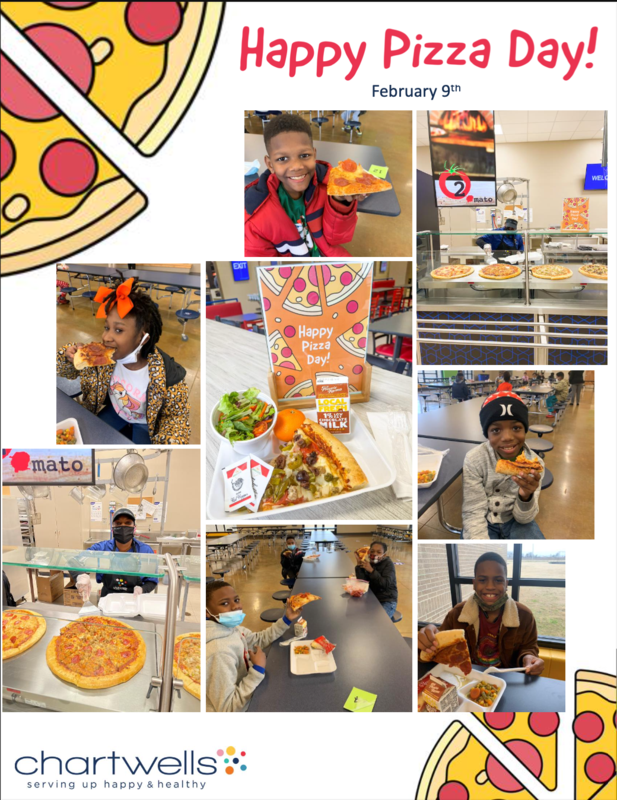 Students were all smiles on National Pizza Day! Featured Photo