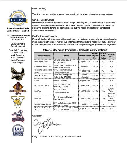 Summer sports sheet