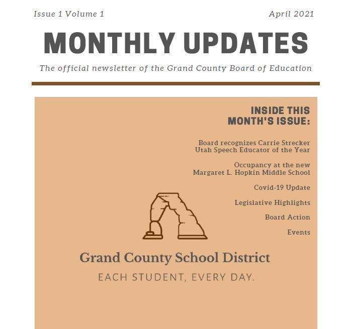 Board Newsletter - April Monthly Updates Featured Photo