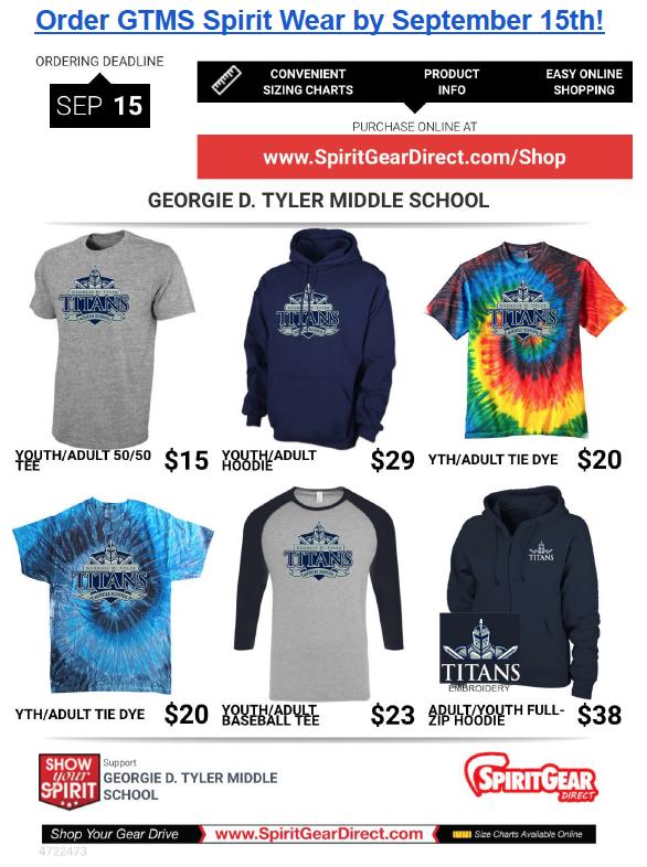 GTMS Spirit Wear September 15