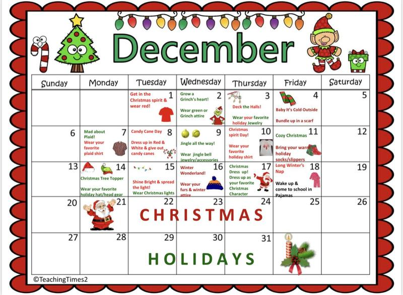 Christmas Sprit Month Activities Featured Photo