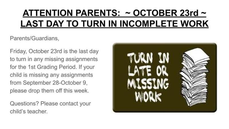 LAST DAY TO TURN IN INCOMPLETE WORK Featured Photo