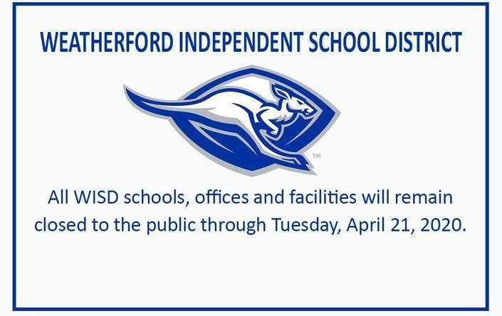 WISD schools, offices, and facilities are closed through April 21, 2020.