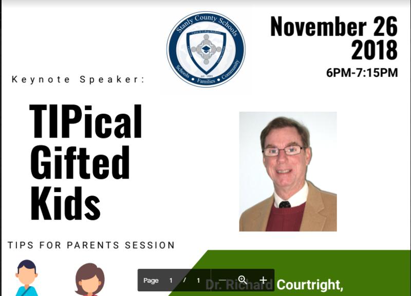 Attention Parents/Guardians: AIG Parent Night November 26th (6:00-7:15pm) Featured Photo